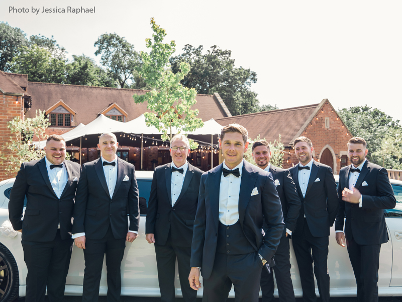 Groom with his men