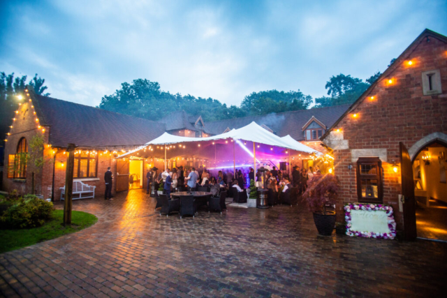 Party night at the Stables barn at Nuthurst Grange Hotel