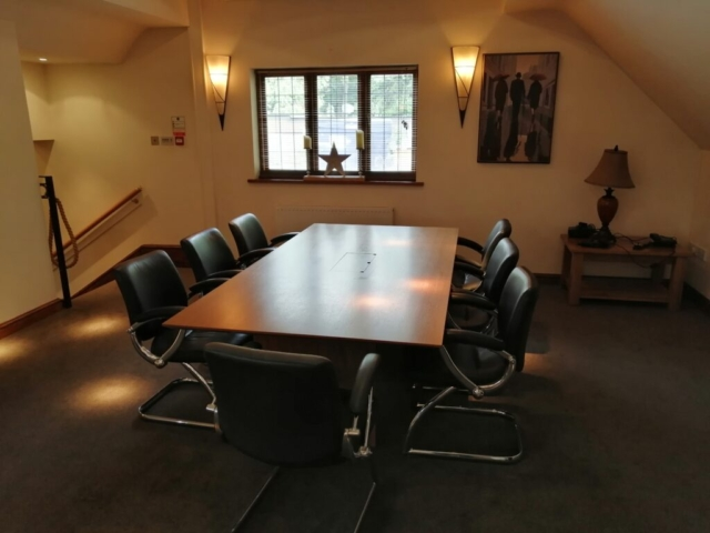 Conference table in the Stables