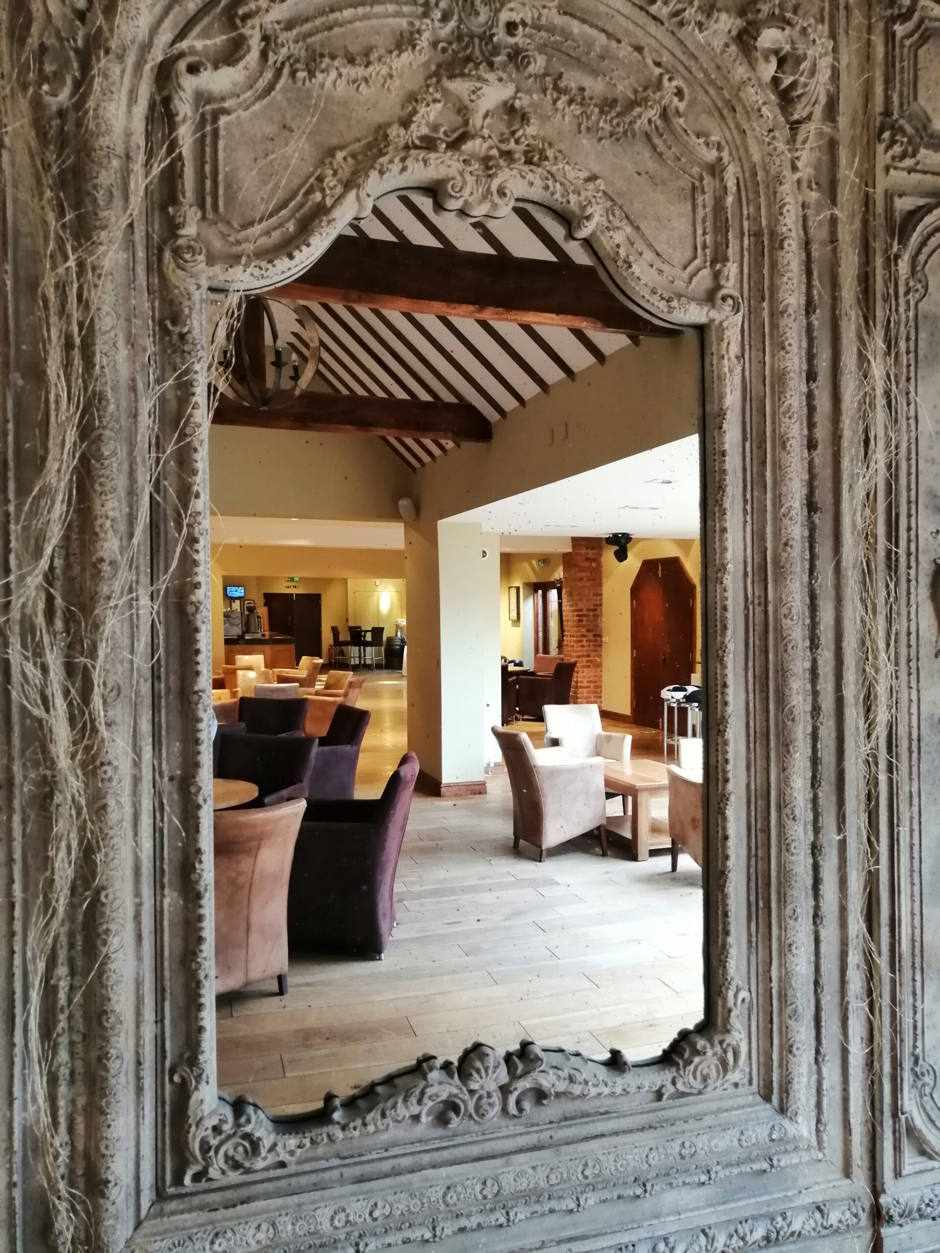 Magic mirror inside the Stables at Nuthurst Grange
