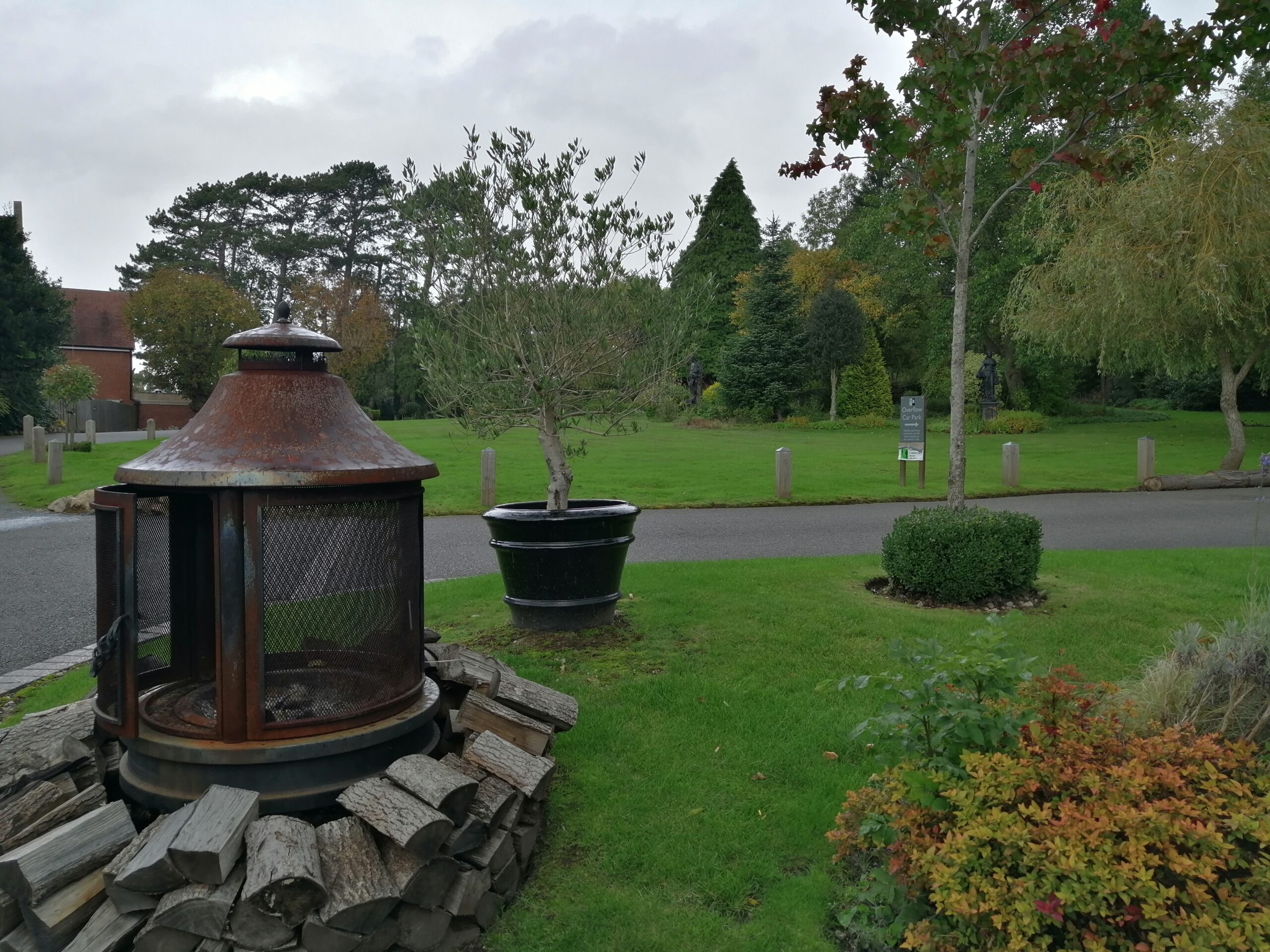 Garden views as you come out from the Stables barn at Nuthurst Grange Hotel