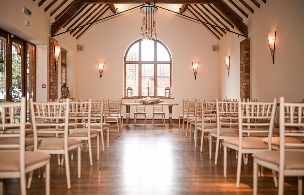 Perfect venue for wedding ceremony at Nuthurst Grange